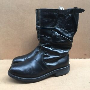Dirk Bikkembergs Pull On Motorcycle Mens  Black Boots SIZE EUR 42 | USA 8.5-9