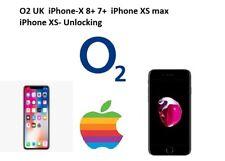O2 UK  iPhone-X 8+ 7+  iPhone XS max iPhone XS- Regular Service