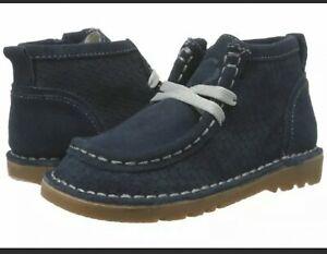 Live & Luca Toddler Boys Bailey Chukka Boots Shoes Navy Suede NIB 6