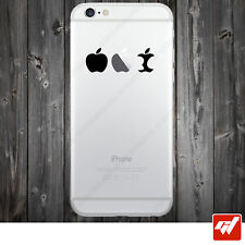 Sticker Autocollant Apple Iphone 4 5 6  Lot de 2X - DE LA POMME AU TROGNON IPH4