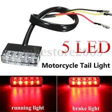 12V Motorcycle ATV Bike Mini 5 LED Rear Tail Running Stop Brake Light Lamp Red