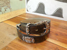 Brown Leather Belt Size M #9055 Made in Mexico
