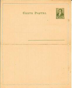 Pre-paid 2 centavos Letter Card (Mint) - Issued 1892-95 - Argentina...