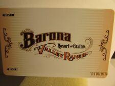Barona Valley Ranch-Resort & Casino-SanDiego, Ca.-room key card-mint