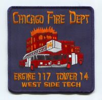 Chicago Fire Department Engine 117 Tower 14 Patch Illinois IL