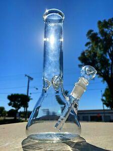 """Hookah Water Pipe Heavy Glass 10"""" Tobacco Beaker Base Bong w/ ICE catcher"""
