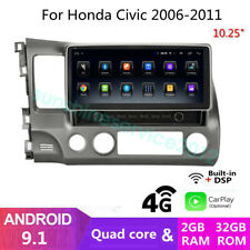 "10.25"" Android 9.1 4G Car DVD GPS Navigation Radio Stereo For Honda Civic 06-11"