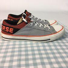 Converse Sneakers Trainers UK 7 EU 41 Grey Orange Low Tops Chuck Norris Spellout