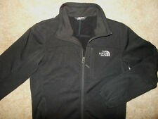 THE NORTH FACE FULL ZIP BLACK SOFT SHELL JACKET MENS SMALL EXCELLENT CONDITION