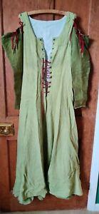 medieval LARP reenactment womens hand made linen dress size 6/8