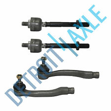 New 4pc Kit: Front Inner and Outer Tie Rod End Links for 1996-2000 HONDA CIVIC