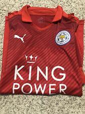 Leicester 2016-2017 away football shirt large.