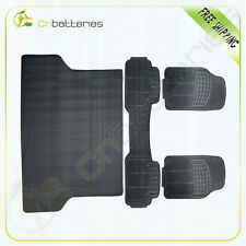 Tough all  Weather 4pc Black Floor Mats durable Easy to clean Heavy Duty Rubber