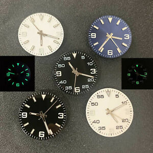 29mm Green Luminous Watch Dial + Hands Kit for 8215/8200/8205/821A Movements