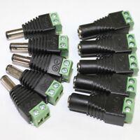 FJ- LX_ 5 Pcs 12V DC Power Supply Plug Adapter Connector for 5050 3528 LED Light