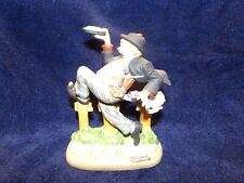 """Norman Rockwell Porcelain Figurine, The Danbury Mint, """"Caught In The Act"""" 1980"""