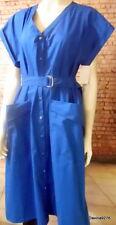 Gerard Darel shirt dress royal blue popper front  Paris designer 42 NWT rrp £215