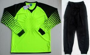 Soccer Goalie Goalkeeper Kit Long Sleeve Jersey & Long Pants LM7607 Neon Green