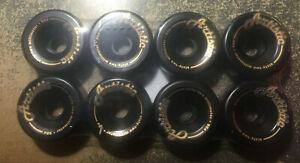 BONES ARTISTIC WHEELS 62MM 98 A BLACK set of 8 NEW IN PACK