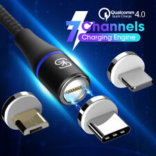 Magnetic Cable 3A Type C / Micro USB Fast Charger For Android Mobile Cell Phones