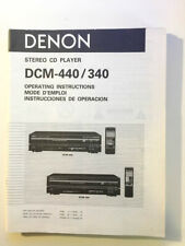 Denon DCM-340 DCM-440 CD Player Owners Manual *Original*