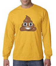 New Way 119 - Unisex Long-Sleeve T-Shirt Apple Facebook Emoji POOP Cartoon Funny