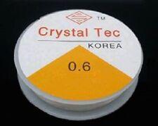 2 x 10 metre 0.6 clear crystal Tec clear beading elastic , jewellery diy craft