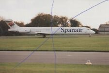COLOUR PLANE PHOTO CIVIL AIRCRAFT SPANAIR PHOTOGRAPH PICTURE OF AN MD-83 DC-9.