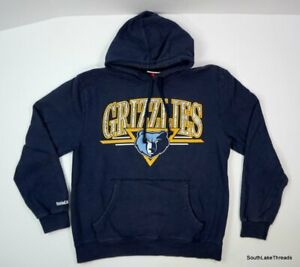 Mitchell & Ness Memphis Grizzles Hoodie Sweatshirt Sz Men's Large Ja Morant