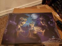 "Disney By Noah ""Tink Vs. Wendy"" Peter Pan Limited Canvas Giclée #335/400 w/ COA"