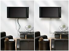 NEW White Cable Management Covers Cord Wires Hide Wall Mounted TV Flat Screen