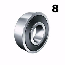 Eight 8 608-2Rs 8x22x7 Precision Double Shielded Greased Ball Bearings 608 Rs