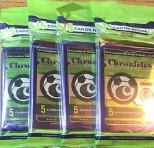 2019-20 PANINI CHRONICLES SOCCER SEALED CELLO PACK LOT OF 4