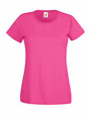 Fruit of The Loom Lady-fit Valueweight T-shirt Fuchsia Wholesale 61372 S