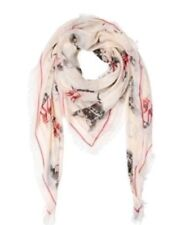 NEW Alexander McQueen Pashmina  Mask Print Scarf in Natural, RRP £370