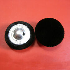 8 Large Big Black Velvet Fabric Covered Dome Outerwear Sewing Buttons 20mm G251