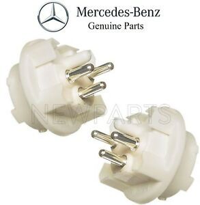 For Mercedes Pair Set of 2 Turn Signal Light Side of Headlight Bulb Socket OES