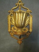 Victorian Cast Brass Match Safe Holder with Strikers on side - Urn Shape  ks5