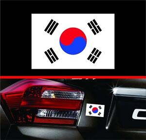 "4"" South Korea Korean Flag Vinyl Decal Bumper Sticker KDM For Hyundai Genesis"