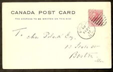 Canada Post Card from Digby for Boston 1917, very nice postmark