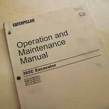 CAT CATERPILLAR 365C Crawler Excavator Owner Operator Maintenance Manual book