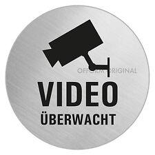 Video-Überwachung-Schild-Videoüberwachung-Video-überwacht l Ø 75 mm l Edelstahl