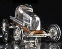 "19"" Silver 1930's Bantam Midget Spindizzy Tether Racecar Decor Authentic Models"