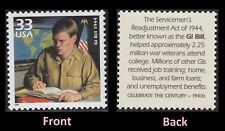 SCOTT # 3186i  -  ONE 33 CENT SERVICEMEN'S READJUSTMENT ACT OF 1944 STAMP -  MNH