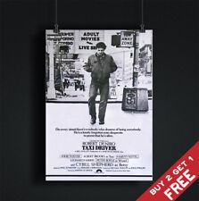 TAXI DRIVER MOVIE POSTER Classic Vintage Film A3 A4 B&W Art Print ROBERT DE NIRO