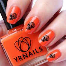Nail WRAPS Nail Art Water Transfers Decals - Sitting Skull  - S274