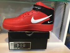 NIKE AIR FORCE 1 MID 07 LV8 Utility High Cut Red Size US 9.5 EUR 43