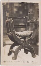 H.R.H. THE QUEEN MARY'S CHAIR - EDWARD 7TH - ROYALTY POSTCARD - RP