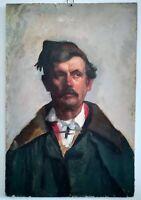 Portrait d'un garde Suisse ? 19ème huile sur carton 74x45cm