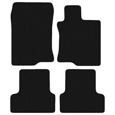 Black Floor Rubber Tailored Car Mats for Honda Accord 2008 to 2015 3mm 4pc Set